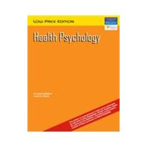 Health Psychology (s): Dimatteo M Robin