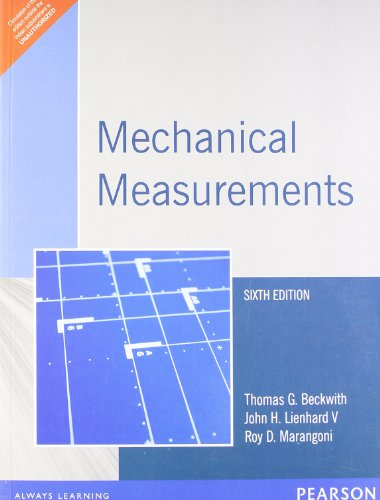 Mechanical Measurement 6/e: THOMAS G. BECKWITH