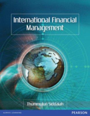 International Financial Management: Thummuluri Siddaiah