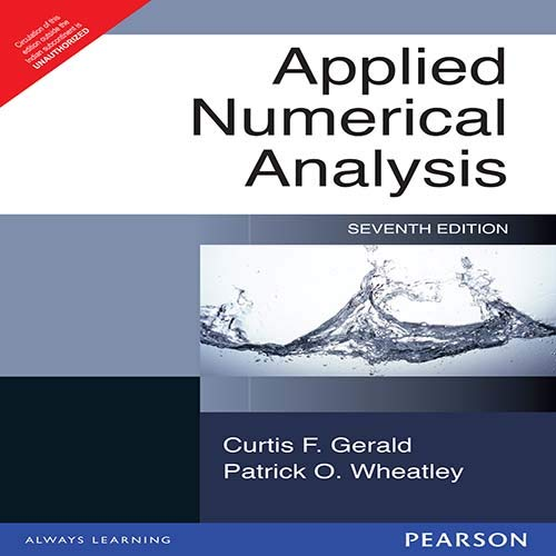 9788131717400: Applied Numerical Analysis, 7/e ( New Edition)