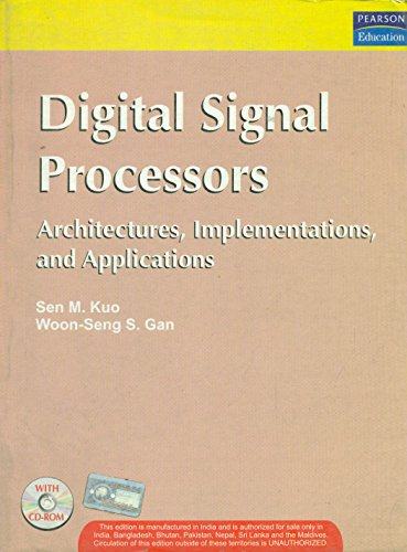 9788131717936: Digital Signal Processors: Architectures, Implementations, and Applications