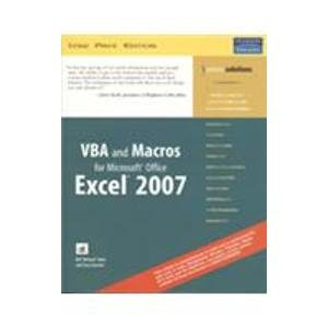 9788131719879: Vba And Macros For Microsoft Office Excel 2007