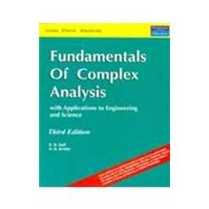9788131720196: Fundamentals of Complex Analysis