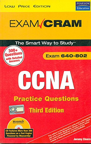 9788131722848: (CCNA Practice Questions (Exam 640-802) [With CDROM]) BY (Cioara, Jeremy) on 2008