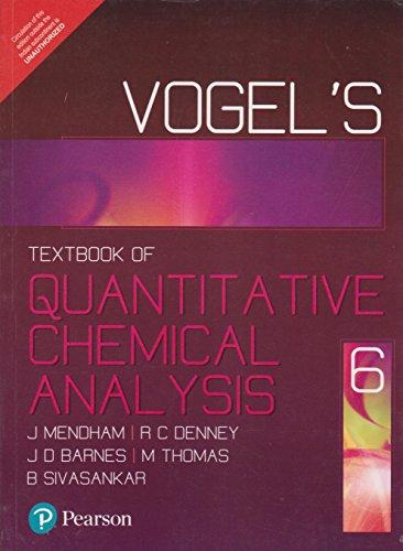 Vogel`s Quantitative Chemical Analysis (Sixth Edition): David J. Barnes,M.J.K Thomas