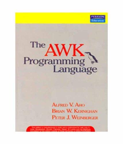 9788131726341: The AWK Programming Language