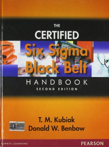 9788131728697: The Certified Six Sigma Black Belt Handbook