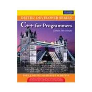 C++ for Programmers: Harvey M. Deitel,Paul J. Deitel