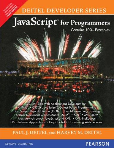 9788131729021: Javascript For Programmers