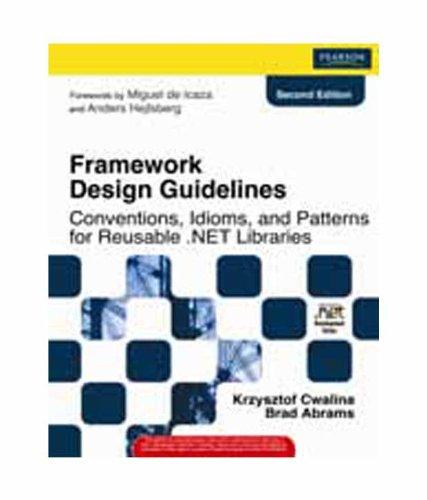 9788131729793: Framework Design Guidelines With Dvd