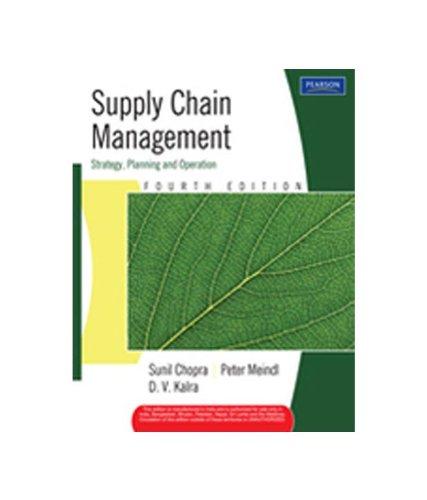sunil chopra peter meindl kalra - supply chain management