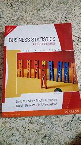 9788131731574: Business Statistics: A First Course
