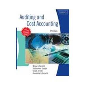 Auditing and Cost Accounting: (For University of Mumbai): Eknath A. Patil,Gunvantrai A. Rachchh,...
