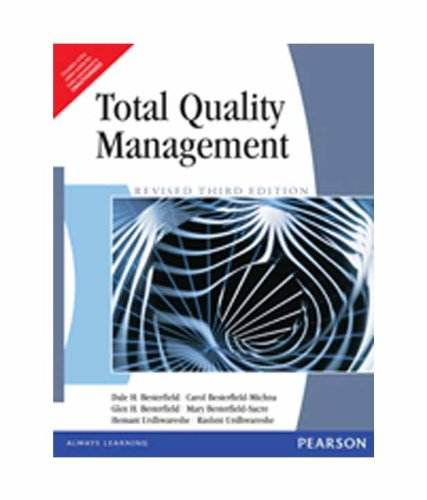 Total Quality Management: Besterfield, Dale H.;