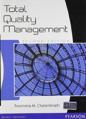 Total Quality Management, 2E: Charantimath