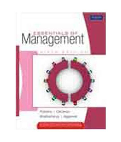 Essentials of Management (Sixth Edition): David A. DeCenzo,Madhushree Nanda Agarwal,Sanghamitra ...