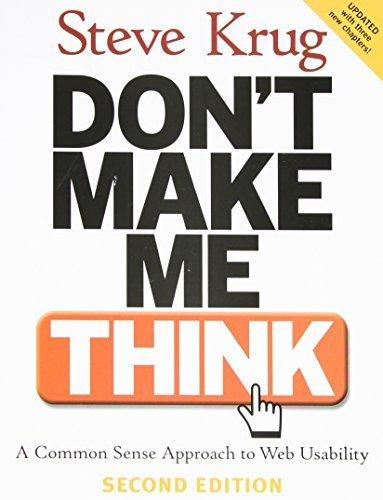9788131734803: Don't Make Me ThinkA Common Sense Approach to Web Usability, 2/e