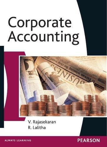 Corporate Accounting: R. Lalitha,V. Rajasekaran