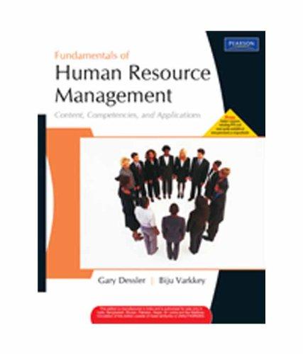 9788131755549: Fundamentals of Human Resource Management: Content, Competencies, and Applications