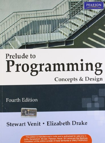 9788131758779: Prelude to Programming: Concepts and Design