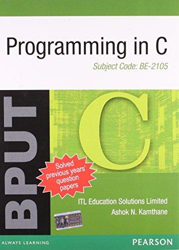 9788131760369: PROGRAMMING IN C
