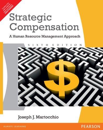 9788131761021: Strategic Compensation : A Human Resource Management Approach 6ed