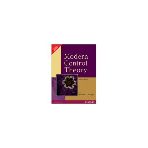 9788131761670: Modern Control Theory 3rd Ed. By William L. Brogan (International Economy Edition)
