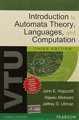 9788131764619: Introduction to Automata Theory, Languages and Computation, 3/e: For VTU