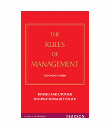 [ { THE RULES OF MANAGEMENT: A DEFINITIVE CODE FOR MANAGERIAL SUCCESS (EXPANDED) (RICHARD TEMPLAR'S RULES) } ] by Templar, Richard (AUTHOR) May-06-2011 [ Paperback ] (8131765776) by Richard Templar