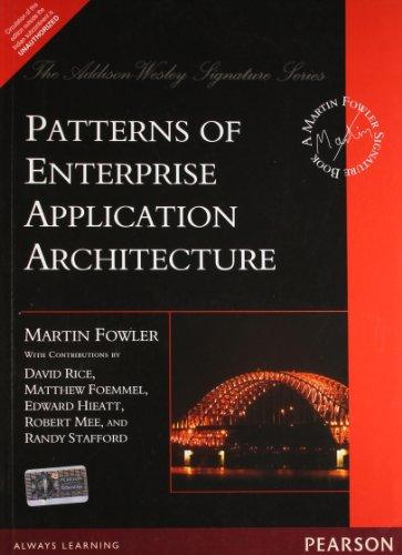 9788131794029: Patterns of Enterprise Application Architecture