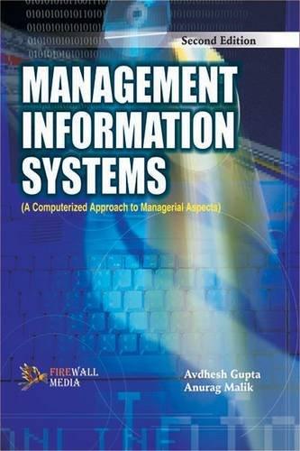 Management Information Systems: Anurag Malik,Avdhesh Gupta