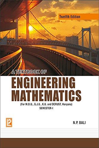 9788131808085: A Textbook Of Engineering Mathematics Sem-I (M. D. U, K. U. ,G. J. U. , Haryana)