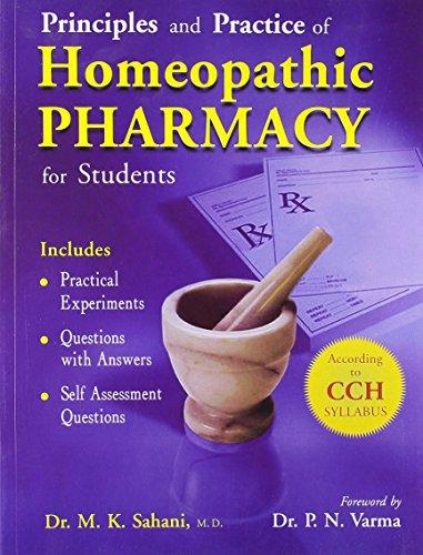 Principls & Practice of Homoeopathic Pharmacy for: Sahani Mk