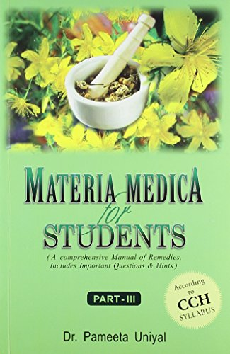 9788131900895: Materia Medica for Students: A Comprehensive Manual of Remedies: Includes Important Question & Hints