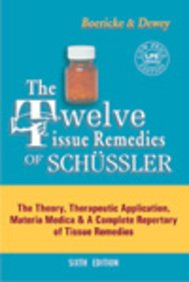 9788131901274: Twelve Tissue remedies of Schussler