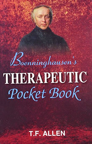 9788131902998: Boenninghausen's Therapeutic Pocket Book: The Principles and Practicability