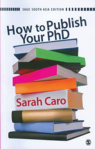 How to Publish Your PhD: Sarah Caro