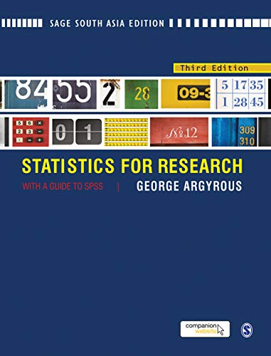 9788132110354: Statistics for Research: With a Guide to SPSS