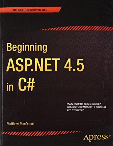 9788132210054: Beginning Asp.Net 4.5 In C# 1St Edition