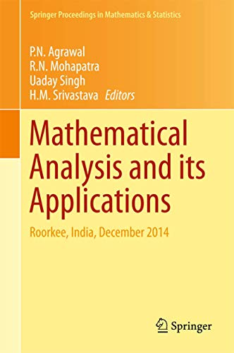 Mathematical Analysis and its Applications: Roorkee, India,: Springer