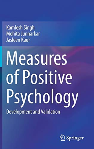 9788132236290: Measures of Positive Psychology: Development and Validation