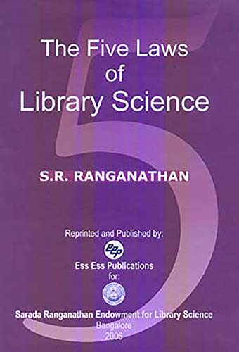 9788170004998: The Five Laws of Library Science