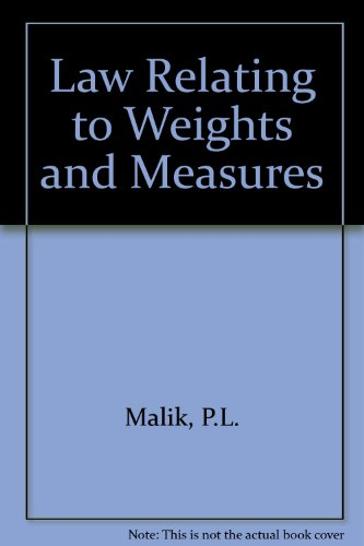 9788170129028: Law Relating to Weights and Measures
