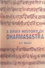 9788170173700: Brief History of Dharmasastra