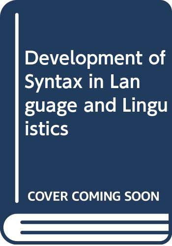 9788170209829: Development of Syntax in Language and Linguistics