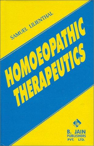 9788170210009: Homoeopathic Therapeutics