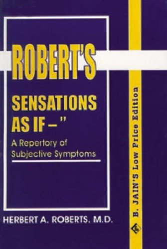 9788170210887: Sensations as If...a Repertory of Subjective Symptoms
