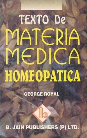9788170211464: Texto De Materia Medica Homeopatica (Spanish Edition)
