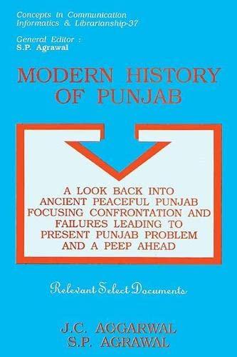 Modern History of Punjab: A Look Back: J.C. Aggarwal &