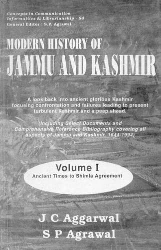 Modern History of Jammu and Kashmir (CICIL-27), 2 Vols: J.C. Aggarwal,S.P. Agarwal